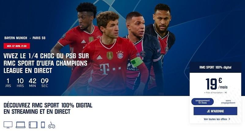 Le choc de la Ligue des Champions entre le Bayern et le PSG, c'est le mercredi 7 avril et uniquement sur RMC Sport