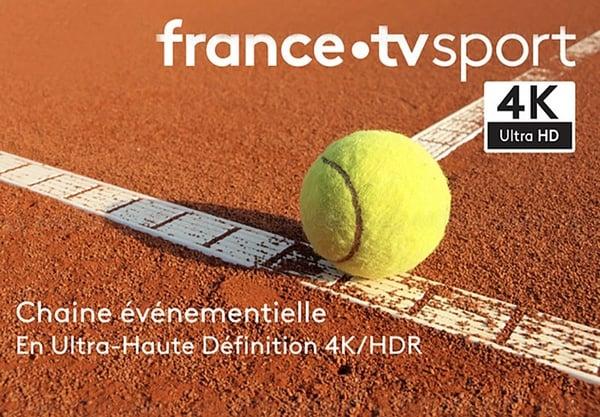 Le tourno ide Tennsi de Roland Garros est diffusé en ultra HD par France Télévision