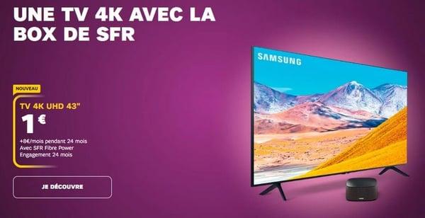 Une TV 4K Samsung avec la Box SFR à partir d'un euro