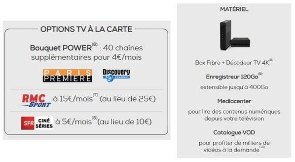 Offre fibre La Poste Mobile : options TV et matériel