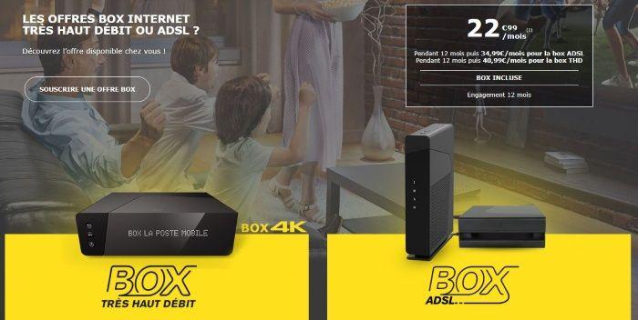 Box Internet en promo : les deux offres La Poste Mobile ADSL et câble