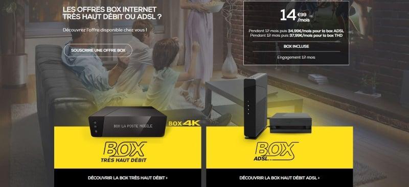 Offre box ADSL ou câble en promotion chez La Poste Mobile