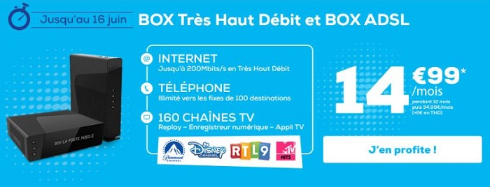 Box Internet en promotion en juin 2019 chez La Poste Mobile