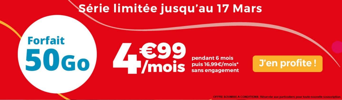 Forfait en promo : Auchan Telecom place la barre à 4,99 euros/mois