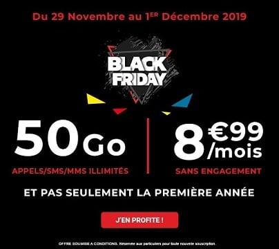 Avec le forfait black friday Auchan télécom, vous avez une offre avec 50 Go de data pour seulement 8,99€/mois à vie.