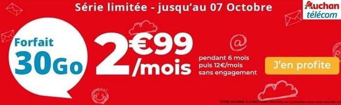 Plus que quelques heures pour profiter de la série limitée Auchan Télécom