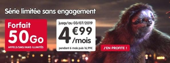Forfait mobile à 5 euros : 50 Go jusqu'au 3 juillet chez NRJ Mobile