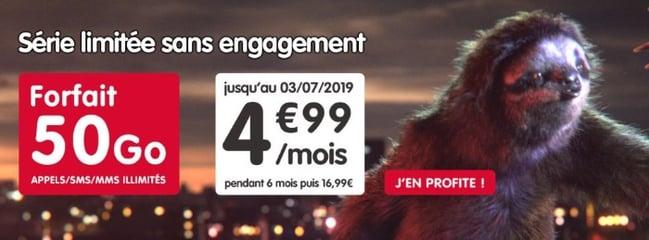 Forfait à bas coût : moins de 5 euros par mois pour 50 Go chez NRJ Mobile