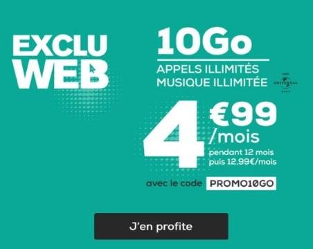 Forfait pas cher : la poste mobile 10 Go à 4,99 euros par mois