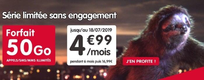 NRJ Mobile propose un forfait à petit prix en juillet 2019, 5 euros seulement pour 50 Go