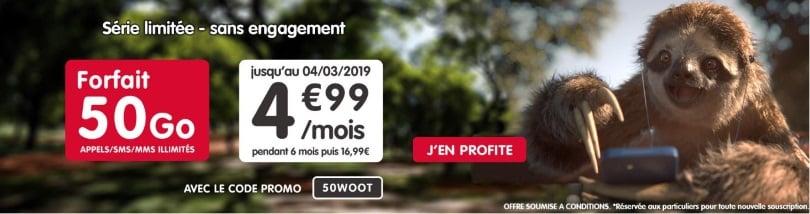 Forfait pas cher : l'offre 50 Go de NRJ Mobile