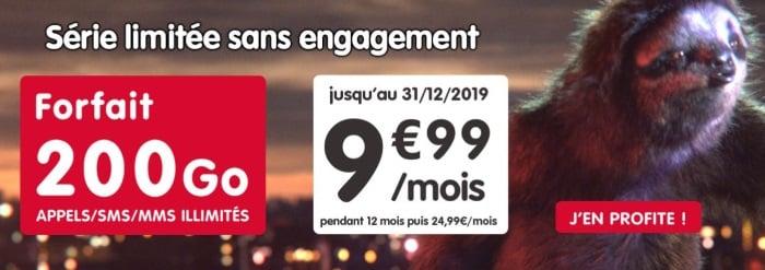 Forfait pas cher chez NRJ Mobile : une offre avec 200 Go de data en novembre 2019