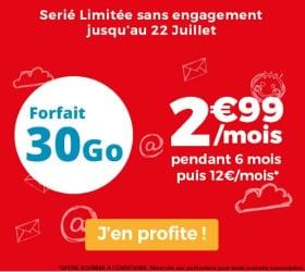 Forfait mobile à 3 euros chez Auchan Telecom en juillet 2019