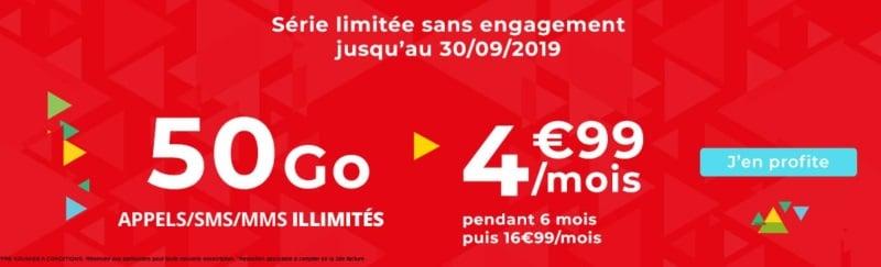 Auchan Telecom propose un forfait à petit prix incluant 50 Go de data jusqu'au 30 septembre