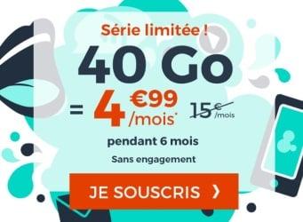 Forfait mobile à 5 euros : 40 Go chez Cdiscount en juillet 2019