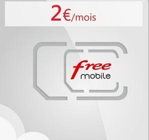 Le forfait pas cher de Free est aussi à 2€/mois