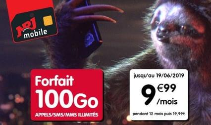 Forfait pas cher : NRJ Mobile propose 100 Go de 4G à 10 euros