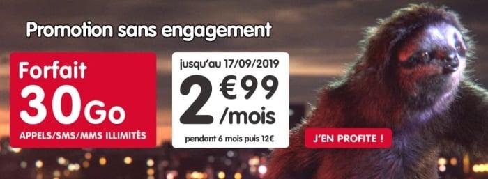 Forfait pas en septembre 2019 : NRJ Mobile 30 Go