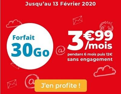 30 Go à 3,99€/mois, la nouvelle série limitée Auchan télécom.