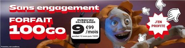 moins de 10€/mois pour le forfait Woot 100 Go NRJ mobile