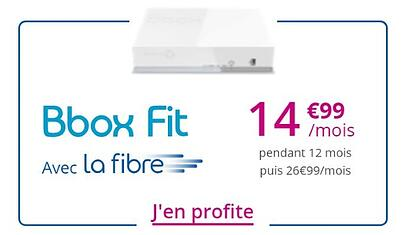 Box fibre Bouygues Telecom en promotion