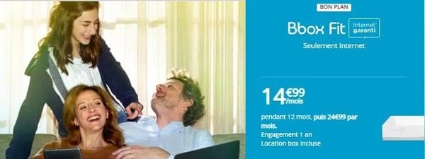 La Bbox Fit est à 14,99€/mois, mais seulement la 1ère année