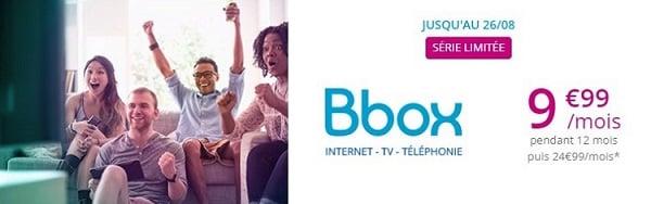 La série spéciale Bbox est la box internet la moins cher du marché