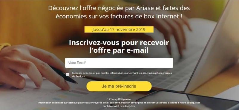 Box Internet : profitez de l'offre Vente privée Ariase