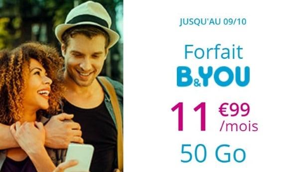 Souscrire le forfait Bouygues 50 Go en septembre 2019