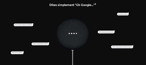 La Google Nest Mini est aussi offerte aux nouveaux clients Bouygues Telecom