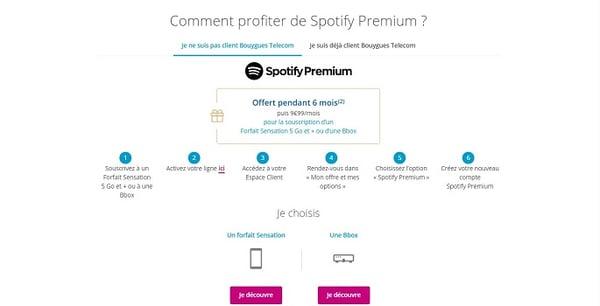 L'offre Spotify avec Bouygues Telecom s'adresse à tous les clients box ou mobile