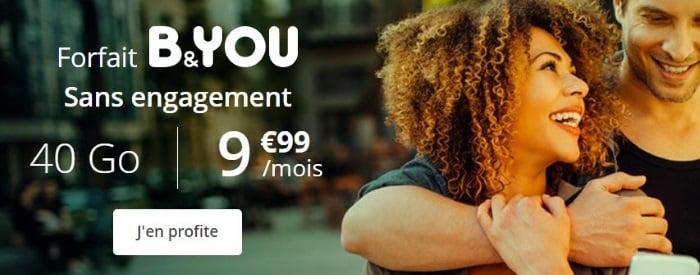 L'abonnement mobile B&You de Bouygues Telecom en promotion jusqu'au 16 juillet
