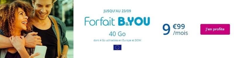 Le forfait mobile Bouygues en promotion en août 2019