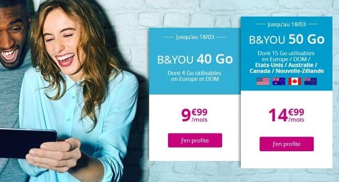 Forfait Bouygues pas cher : 10 euros pour 40 Go