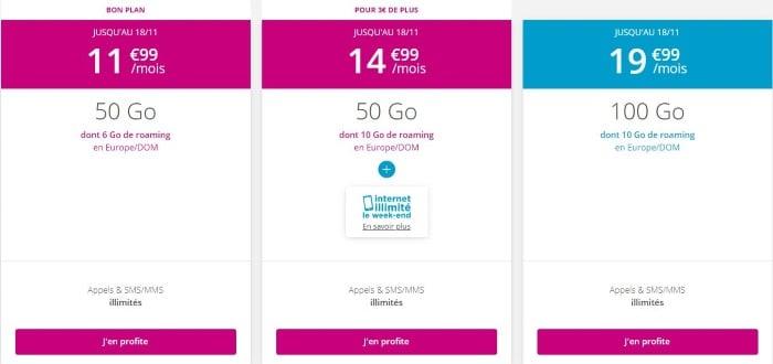 Les forfaits mobiles Bouygues Telecom en promotion en octobre 2019