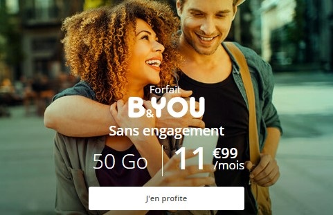 forfait mobile B&YOU 50 Go