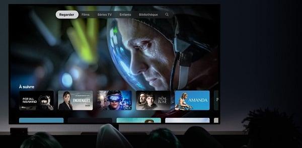 Il faut accéder à l'application Apple TV pour regarder un contenu sur Apple TV+