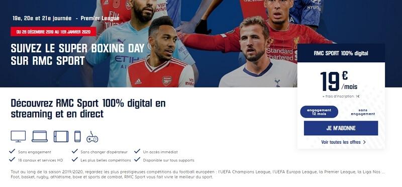Boxing Day TV : le programme de Premier League sur RMC Sport