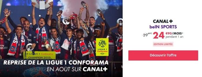 Canal + avec promo Bein Sports en juillet 2019