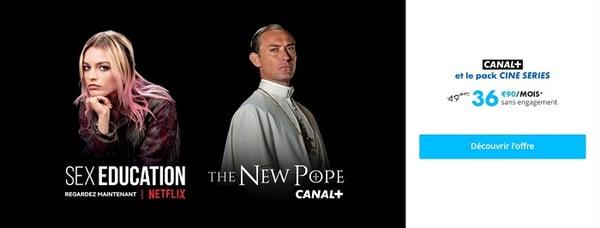 La nouvelle offre Canal+ avec Netflix est à 36,90€/mois