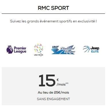Nouveau prix RMC Sport chez La Poste Mobile
