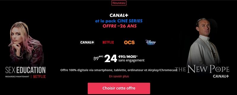 L'offre canal avec Netflix inclus pour les moins de 26 ans