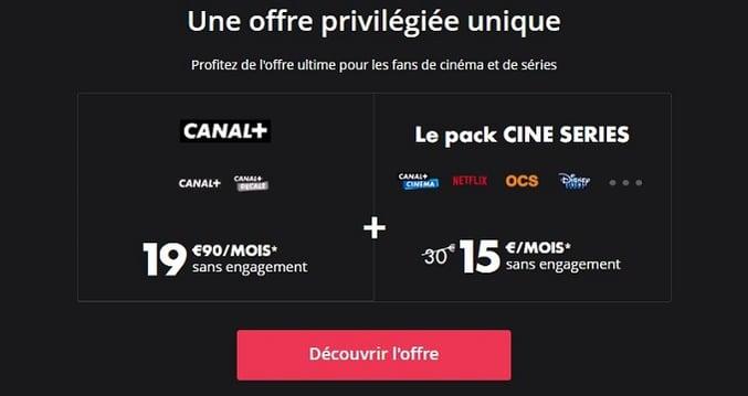 La nouvelle offre Netflix avec Canal est à 34,90€/mois