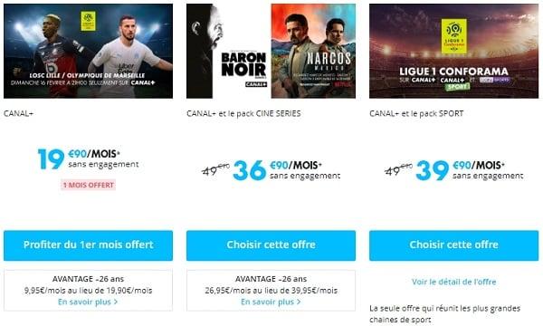 Les offres d'abonnements à Canal+.