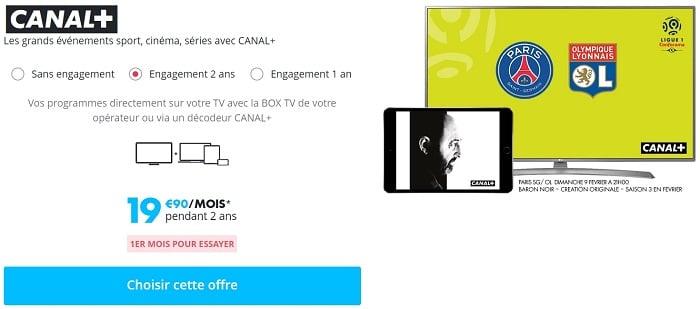 Profitez d'un mois offert avec votre abonnement à Canal+