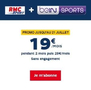 RMC Sport et BeIN Sport en promotion en juillet 2019
