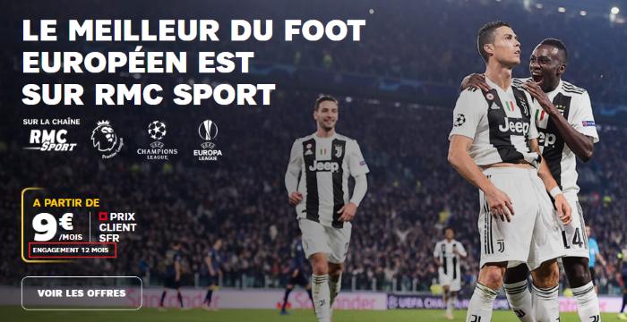 RMC Sport : nouveau prix avec engagement chez SFR