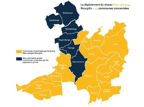 Resoptic : la fibre dans 14 communes de Moselle