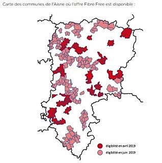 Aisne : calendrier d'ouverture de la fibre Free arrive sur le Raiso