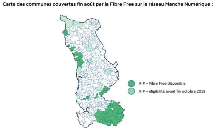 Free fibre disponible dans la Manche